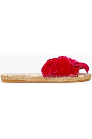 MANEBI Manebí Woman Monaco Knotted Velvet Espadrille Slides Fuchsia Size 35