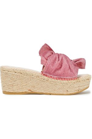 MANEBI Manebí Woman Twisted Lurex Espadrille Wedge Sandals Size 36
