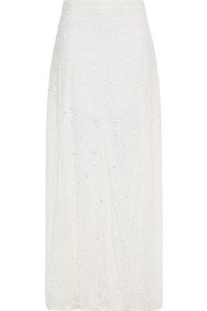 VIX PAULA HERMANNY Woman Malia Broderie Anglaise Maxi Skirt Off- Size S