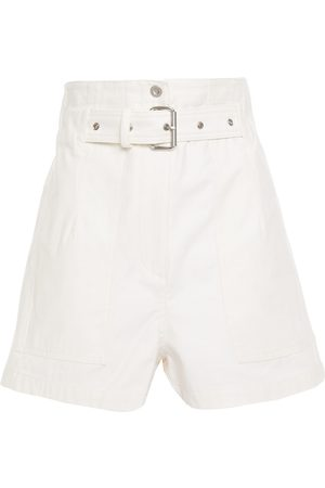 3.1 Phillip Lim Woman Belted Cotton-canvas Shorts Off- Size 00