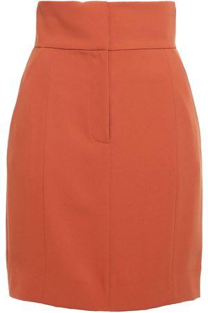 Sara Battaglia Woman Cady Mini Skirt Tan Size 36