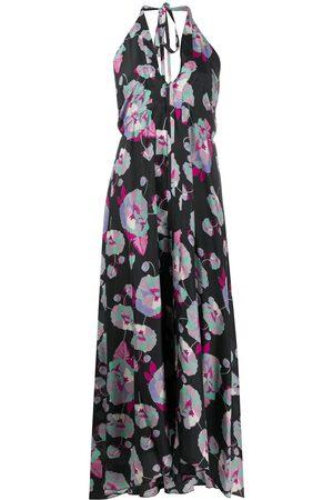 Isabel Marant Women Printed Dresses - Raizama halterneck floral print dress