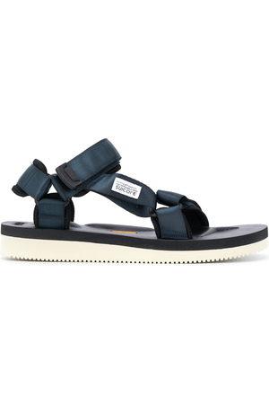 SUICOKE Men Sandals - Contrast-sole strappy sandals