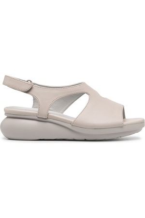 Camper Balloon cut-out wedge sandals