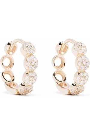Dinny Hall 14kt yellow Shuga Starflower diamond huggie hoop earrings