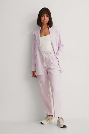 NA-KD Women Trousers - Recycled Cropped Suit Pants - Purple