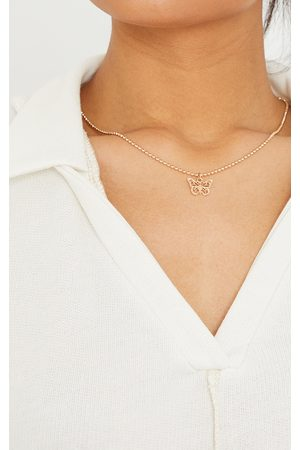 PRETTYLITTLETHING Gold Mini Dainty Butterfly Necklace