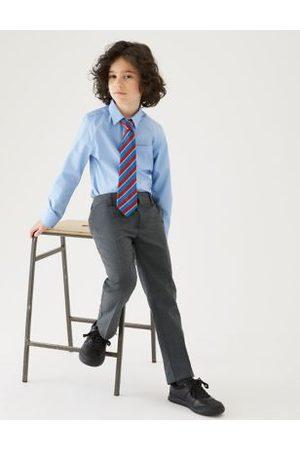 Marks & Spencer Boys 2pk Boys' Slim Leg Slim Fit School Trousers (2-18 Yrs) - 7-8 Y - ,