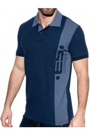 Es Men Polo Shirts - ES Logo Basic Polo Shirt - Navy XS
