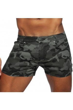 Addicted Men Trousers - Camo Jeans Short - 28