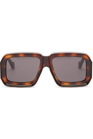 Loewe Men Sunglasses - Square Tortoiseshell-acetate Sunglasses - Mens - Tortoiseshell