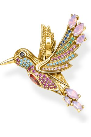 Thomas Sabo Women Necklaces - Pendant colourful hummingbird gold multicoloured PE905-488-7