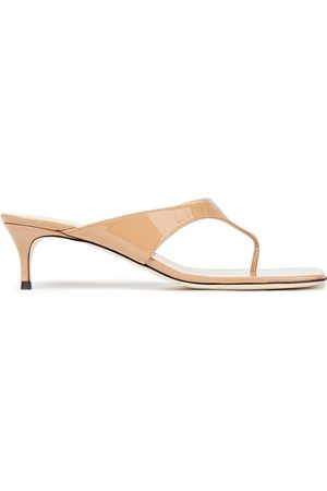 By Far Woman Jackie Patent-leather Sandals Neutral Size 35