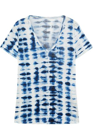Majestic Woman Tie-dyed Linen-jersey T-shirt Size 1