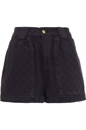 DL1961 Woman Marie Quilted-paneled Denim Shorts Size L