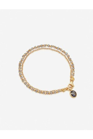 ASTLEY CLARKE Biography 18ct -plated sterling silver and labradorite bracelet