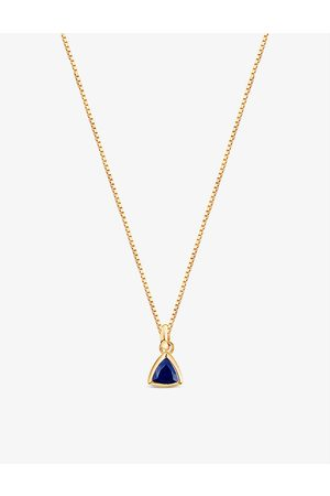 EDGE OF EMBER Women Necklaces - September birthstone 18ct yellow -plated sterling silver and sapphire necklace