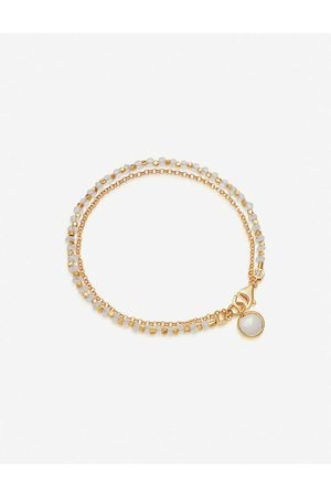 ASTLEY CLARKE Biography 18ct -plated and moonstone bracelet