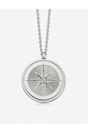 ASTLEY CLARKE Celestial Compass sterling and sapphire necklace