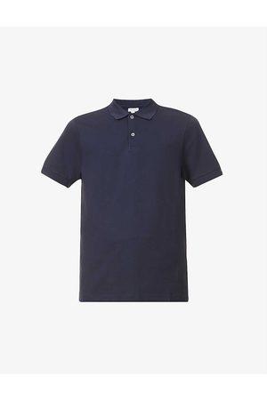 Sunspel Men Polo Shirts - Short-sleeved cotton- piqué polo shirt