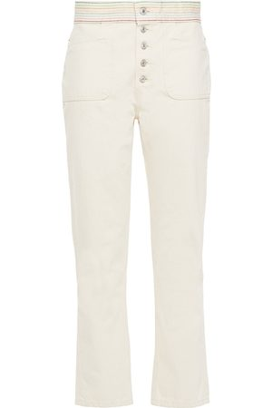 RE/DONE Woman The Blanca High-rise Straight-leg Jeans Ecru Size 24
