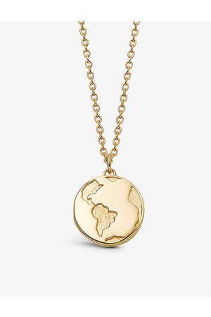 ASTLEY CLARKE Biography Earth 18ct -plated vermeil sterling silver locket necklace