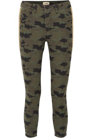 L'Agence Woman Margot Cropped Camouflage-print High-rise Skinny Jeans Army Size 24