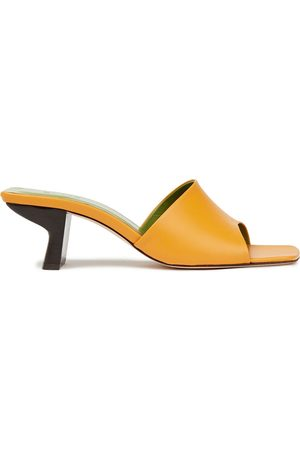 By Far Woman Lily Leather Mules Saffron Size 35