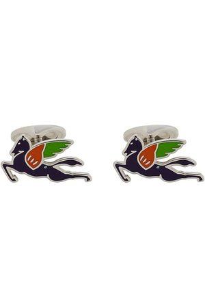 Etro Men Cufflinks - Multicoloured logo cufflinks