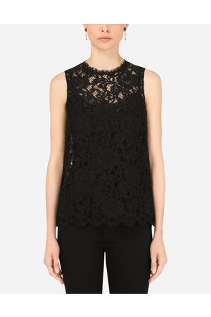 Dolce & Gabbana Women Tops - Collection - Cordonetto lace top female 36