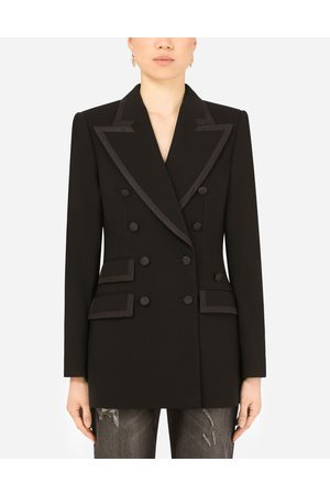 Dolce & Gabbana Women Summer Jackets - Collection - Wool double-breasted Turlington jacket with silk faille piping female 36