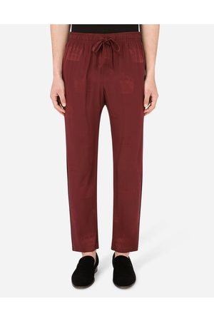 Dolce & Gabbana Men Trousers - Collection - Silk pajama pants with all-over DG print male 44