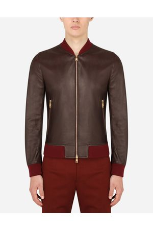 Dolce & Gabbana Men Leather Jackets - Collection - Leather jacket male 48