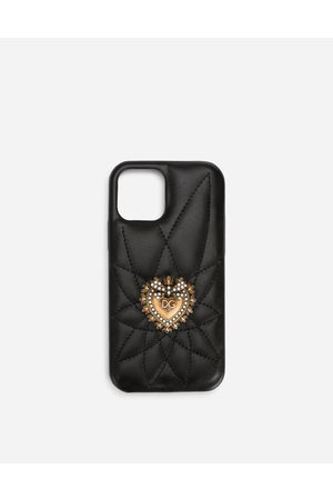 Dolce & Gabbana Women Phones - Collection - Quilted calfskin Devotion iPhone 12/12 Pro cover female OneSize