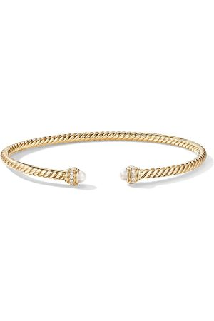 David Yurman 18kt yellow diamond 3mm cable spiral bracelet