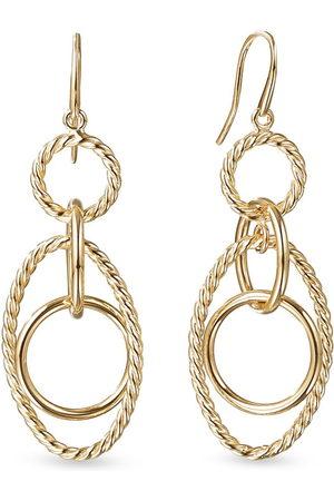 David Yurman 18kt yellow small Chain link mobile earrings