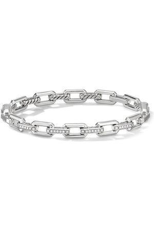 David Yurman Sterling 7mm Stax small link diamond bracelet