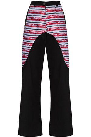 MARIAH ESA Women Wide Leg Trousers - High-waisted panelled wide-leg trousers