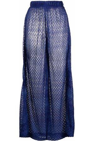 Missoni Pointelle-knit wide-leg trousers