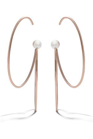 Tasaki Women Earrings - 18kt rose and yellow gold Nacreous pearl earrings - Metallic