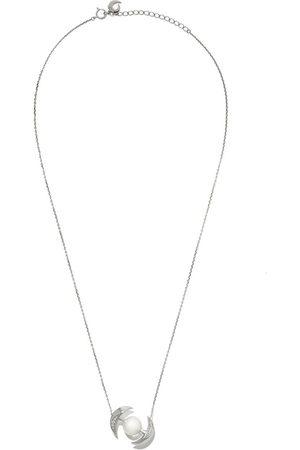 Tasaki Women Necklaces - 18kt white gold Buoy South Sea pearl and diamond pendant