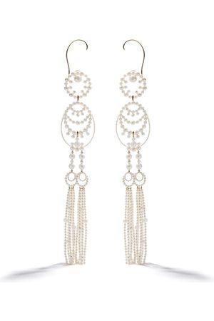 Tasaki Women Earrings - 18kt yellow gold Waterfall Akoya, freshwater and South Sea pearl ear cuffs