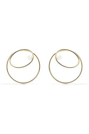 Tasaki Women Earrings - 18kt yellow Nacreous Akoya pearl earrings