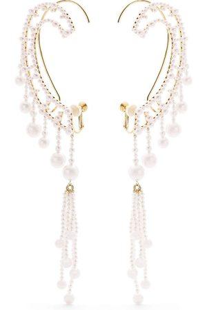 TASAKI Women Earrings - 18kt yellow gold Waterfall Akoya and freshwater pearl ear cuffs