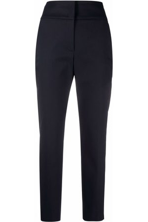 PESERICO SIGN High-waisted slim trousers