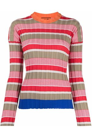 Colville Striped ribbed-knit jumper - Neutrals