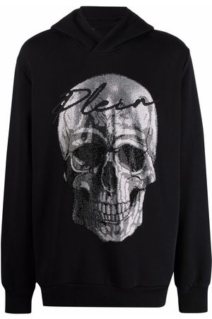 Philipp Plein Crystal-embellished skull hoodie