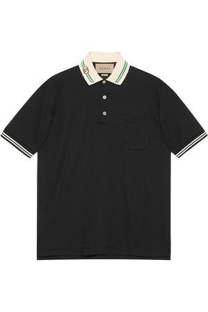 Gucci Interlocking G-collar polo shirt