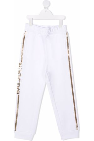 Balmain Sequined belted track pants