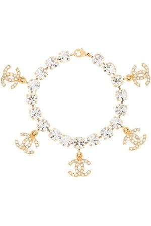 CHANEL 1995 rhinestone-embellished dangle CC bracelet